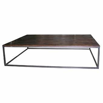 Coffee table Mesa with reclaimed teak top