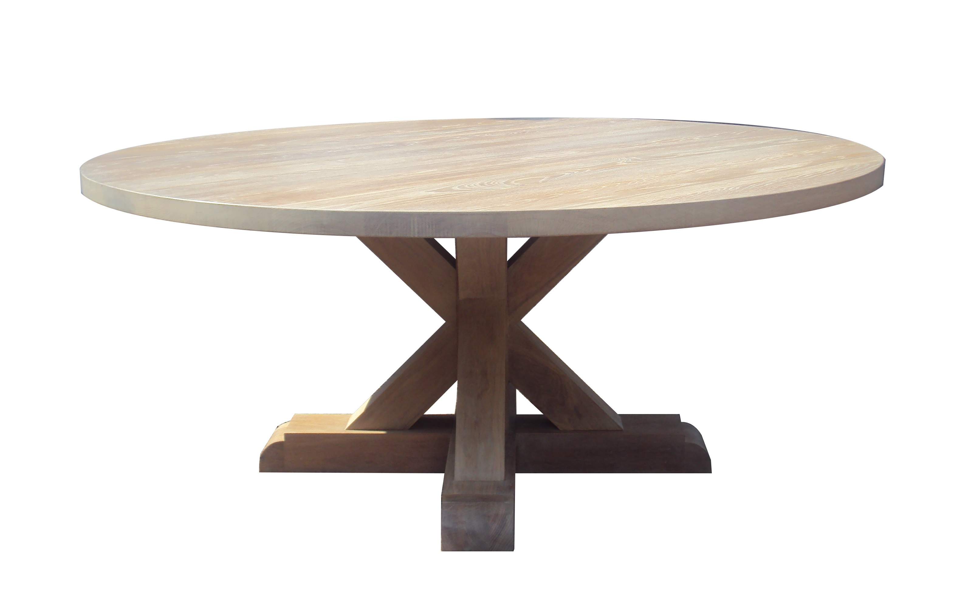 Rustic Round Table in oak