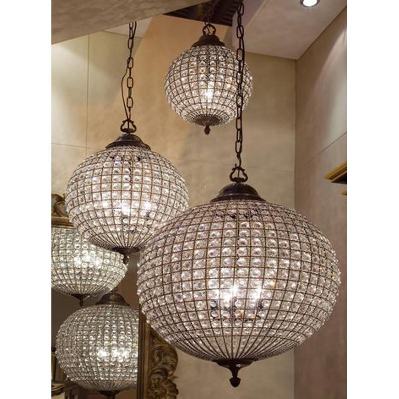 Circa antiques antiques custom furniture lighting crystal ball pendant light aloadofball Images
