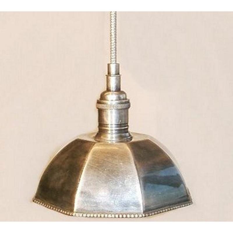 Circa antiques antiques custom furniture lighting hexagonal pewter pendant aloadofball Image collections