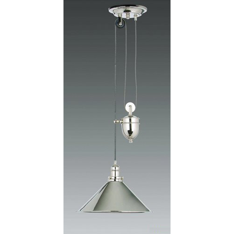 Brasserie Rise and Fall, polished nickel